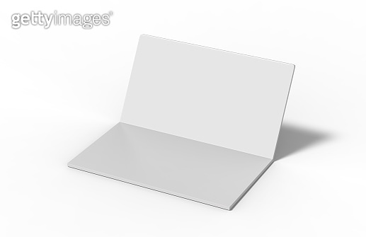 New invitation and greeting card mockup on isolated white background, 3d illustration