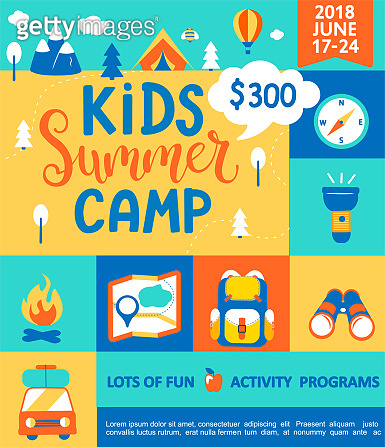Poster for the Kids Summer camp.