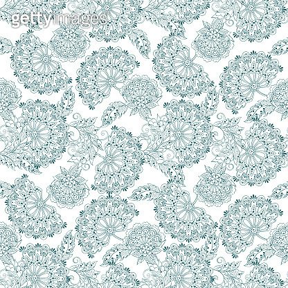vintage pattern in indian batik style