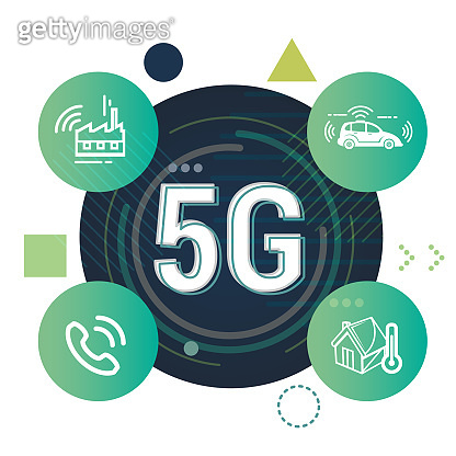 Telecom Technology 5G Advantage Illustration