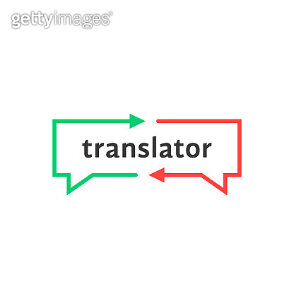 simple thin line translator