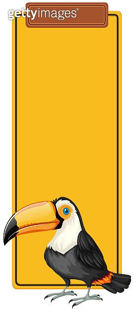 Toucan book mark concept