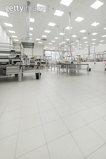 Factory for the manufacture of electronic printed circuit boards. Workshop surface mounting and pre-assembly