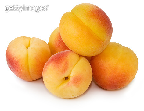 Isolated image of peach close-up