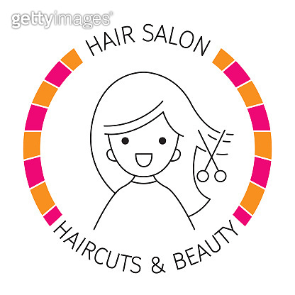 Woman On Banner, Hair Salon, Haircuts And Shaves