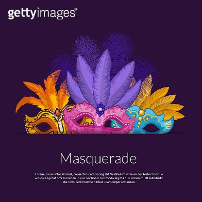 Vector carnival masks illustration