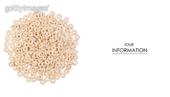 Breakfast cereal rings pattern