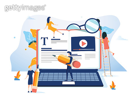 Concept Professional training, education, video tutorial for web page, banner, presentation, social media, documents