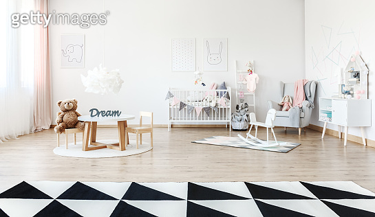 Child's room with small table