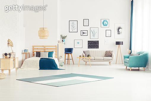 Bright open space interior