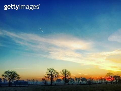 Colorful sunrise landscape