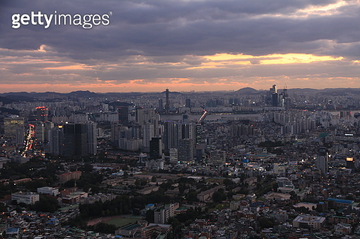 The Skyline of Seoul, Capital of South Korea