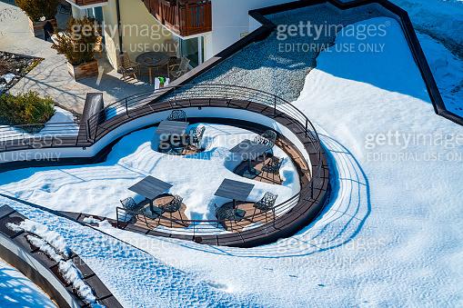 Amazing SPA terrace interior design