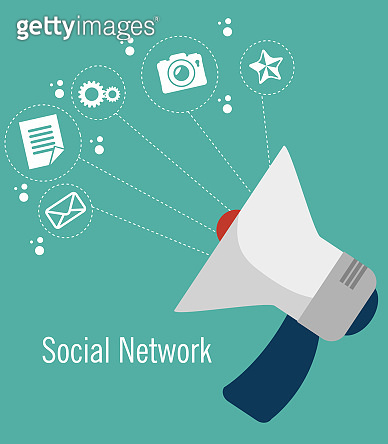social media network globe isolated