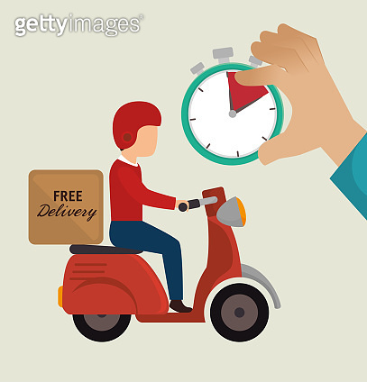 free delivery guy ride motorcycle icons
