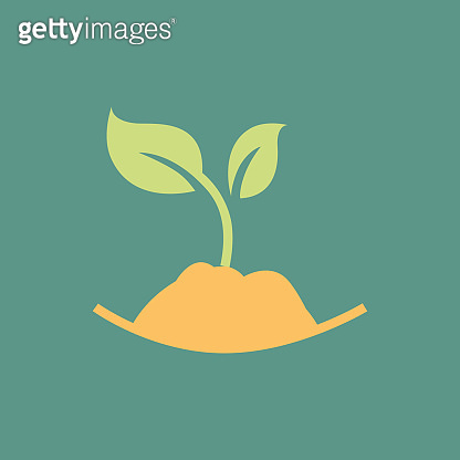 Silhouette icon seedling