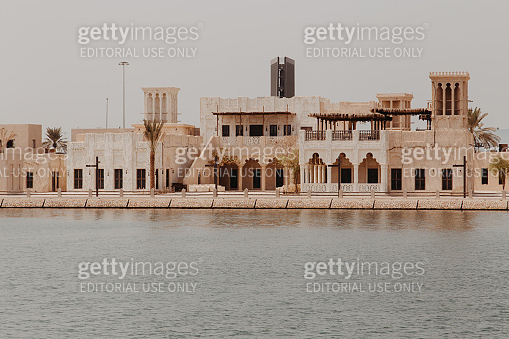 View of old town Deira district and Dubai Creek