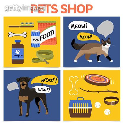 Flat Pet Shop Square Concept