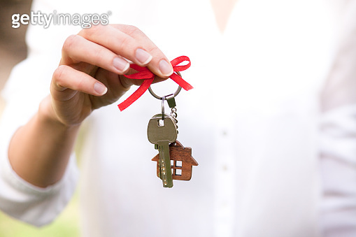 Concept of home  ownership. 'Real estate and property