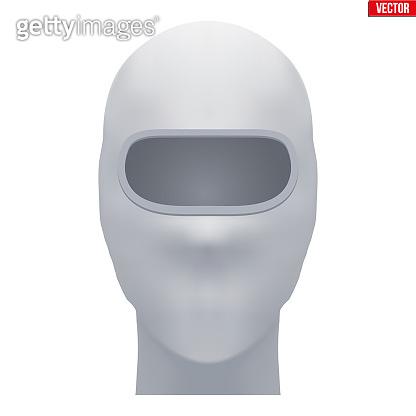 White Balaclava SKI mask