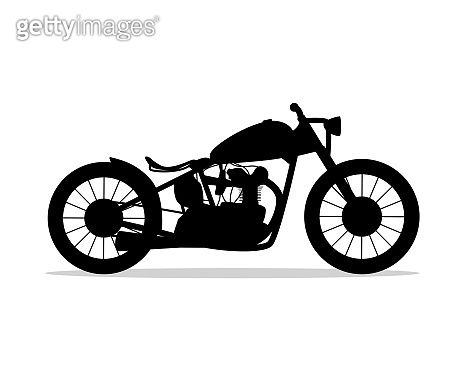 motorcycle silhouette design illustration, silhouette style design