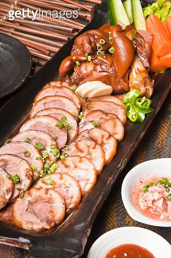 Korean style pig footing
