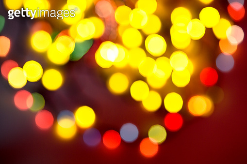 multi-colored bokeh on a black background