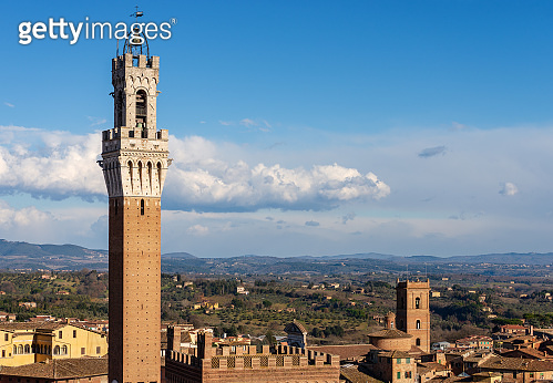 Torre del Mangia (Tower of Mangia) 1348. Siena, Tuscany, Italy