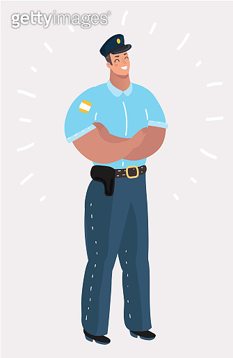 Police officer standing.