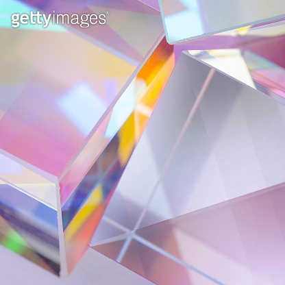 abstract bright glass cubes
