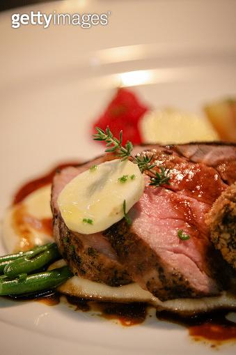 Gourmet Food on dish