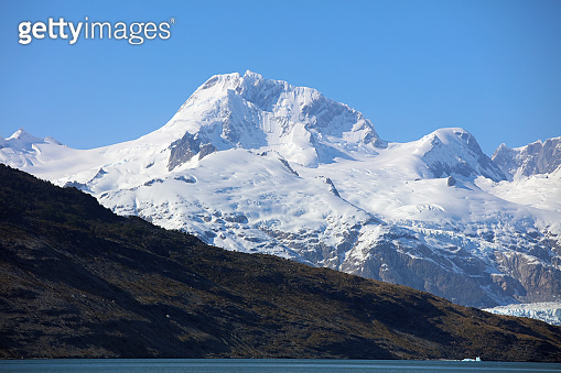 Ainsworth Bay and Marinelli Glacier in Patagonia. Chile