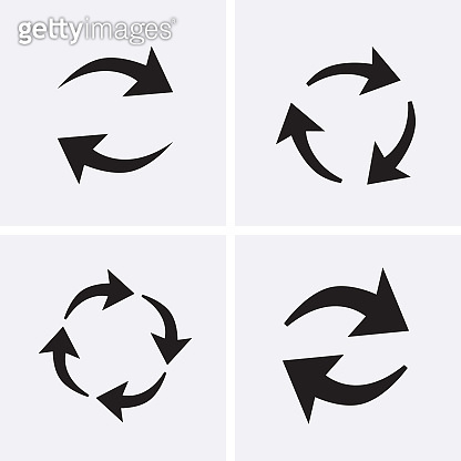 Processing circular Icons set