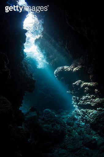 Sunlight and Dark, Underwater Cavern