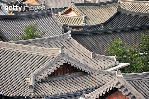 Roof tiles of Korean traditional house