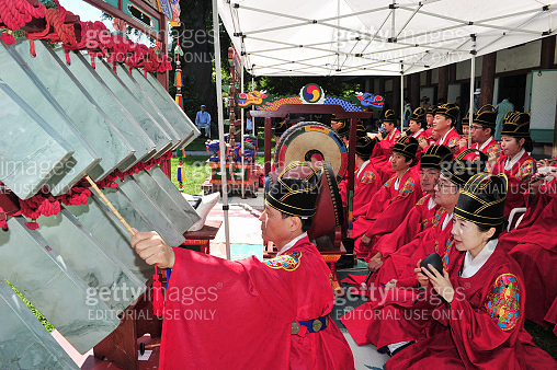Jeonju Korean Traditional Music Group playing the ancestral ritual music