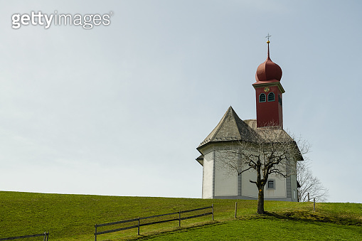 Sankt Joseph church in beautiful Entlebuch biosphere reserve