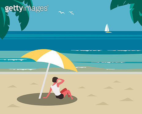 Rest on sea beach