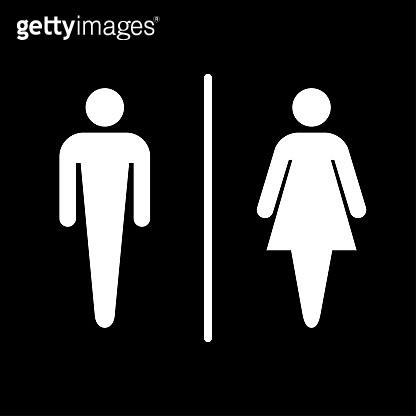 Sign of public toilets / Man & woman
