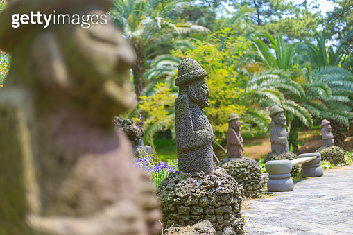 Traditional sculpture on the Jeju Island in South Korea