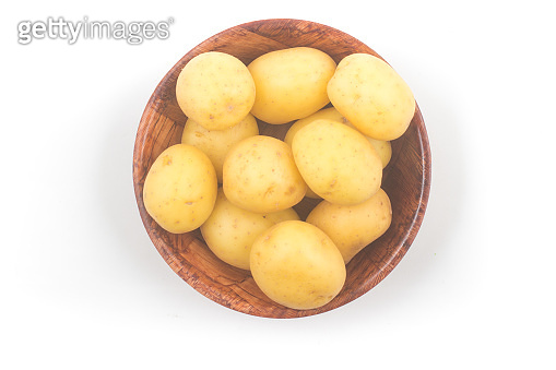 heap of baby potatoes in a bowl