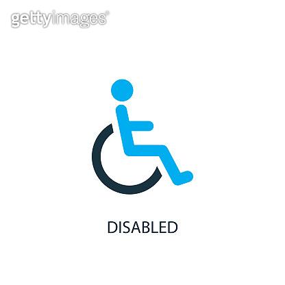 Disabled icon. icon element illustration