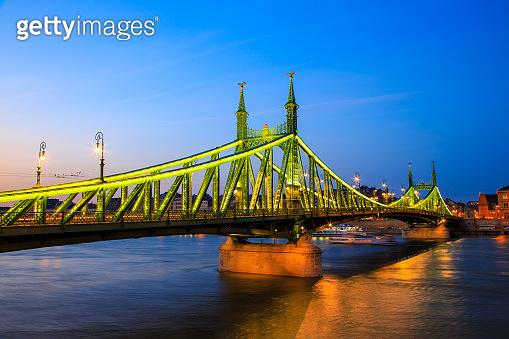 The Liberty Bridge in Budapest, Hungary
