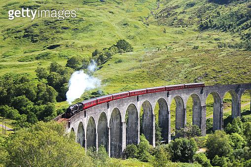 Glenfinnan Viaduct & Steam Train