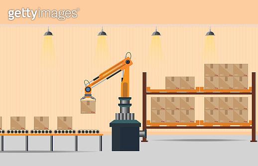 Manufacturing Warehouse Conveyor.
