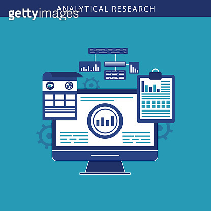 Data and analytical research concept