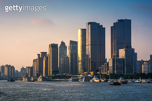 HDR Image of Shanghai Skyscrapers at daytime