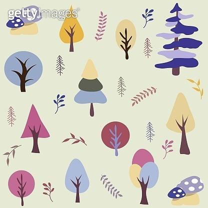 Seamless natural ornament pattern