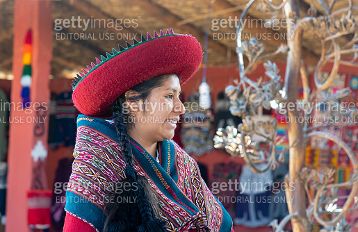 Peruvian girl wearing national clothing, The Sacred Valley