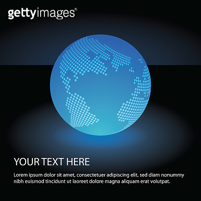 Spotted Earth Globe Design - Global Business, Technology, Globalization Concept